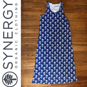 Synergy - Fish Print Essential Maxi Neutral (BLUE)